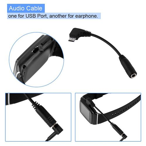 Excelvan KP62-B Smartwatch barato cable audio