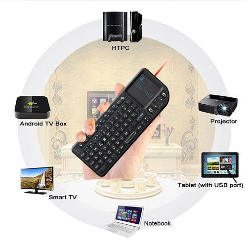 Los mejores touchpads inalámbricos del mercado Rii Mini Elegance Wireless RT-MWK01+ Compatibilidad