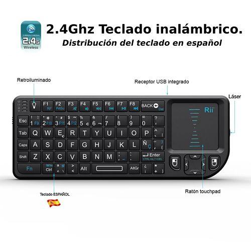 Los mejores touchpads inalámbricos del mercado Rii Mini Elegance Wireless RT-MWK01+ Diseño