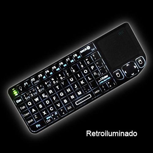Los mejores touchpads inalámbricos del mercado Rii Mini Elegance Wireless RT-MWK01+  Retroiluminado
