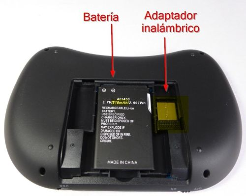 Los mejores touchpads inalámbricos del mercado Rii Mini i8 Wireless Batería