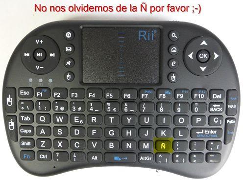 Los mejores touchpads inalámbricos del mercado Rii Mini i8 Wireless Diseño