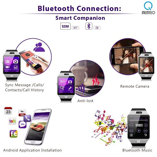 mejor smartwatch barato memteq gv05 con bluetooth